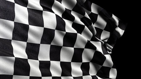 4K Checker flag seamless loop Ultra-HD with alpha  Animation