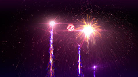 Fireworks 4K Stock Video Footage