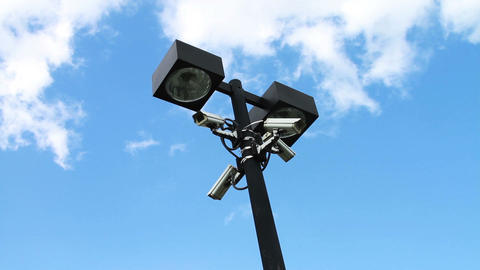 1967 Security Cameras on Light Pole Footage