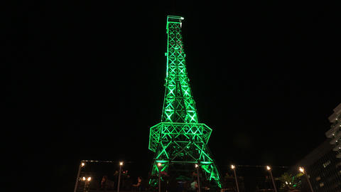 A copy of the Eiffel tower. Varna. Golden Sands. R Footage