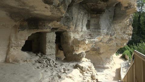 Aladzha Monastery in the mountains. Varna. Bulgari Stock Video Footage