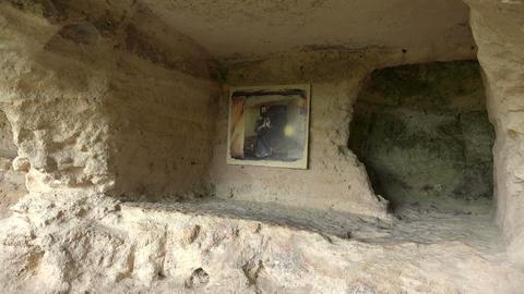 Aladzha Monastery in the mountains. Varna. Bulgari Footage