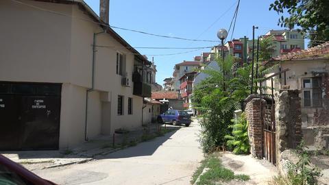 Varna. Bulgaria. Buildings, streets, districts. 4K Footage