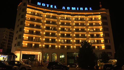 Hotel Admiral. The Golden Sands resort. Varna. Bul Stock Video Footage