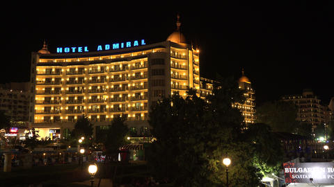 Hotel Admiral. The Golden Sands resort. Varna. Bul Stock Video Footage