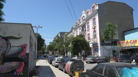 Varna. Bulgaria. Buildings, streets, districts. 4K Stock Video Footage