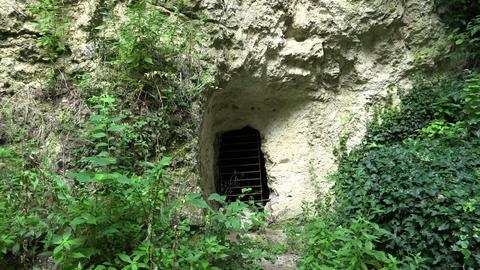 Catacombs near Aladzha. Varna. Bulgaria. 4K Stock Video Footage