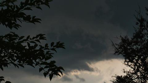 1971 Dark Storm Clouds at Neighborhood, HD Footage