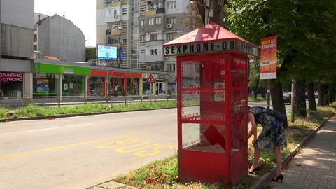 Phone sex in Varna. Bulgaria. 4K Stock Video Footage