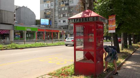 Phone sex in Varna. Bulgaria. 4K Footage