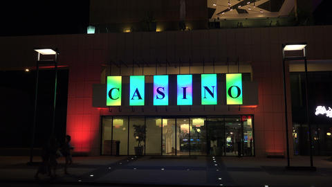 Casino at the Golden Sands resort. Varna. Bulgaria Stock Video Footage