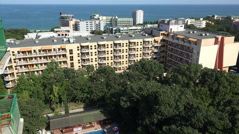 Golden Sands resort in Varna. Bulgaria. 4K Stock Video Footage