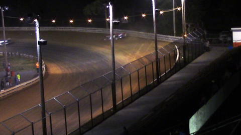 2004 Race Car Crash Spin Out at Dirt Track Footage