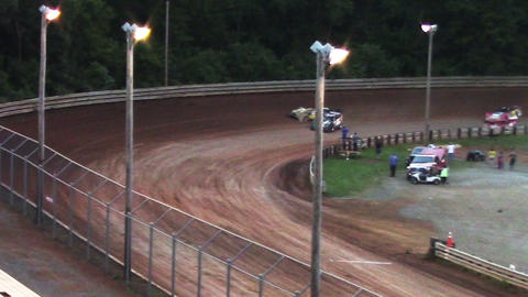2006 Race Cars Late Models Spin Out at Dirt Track Footage