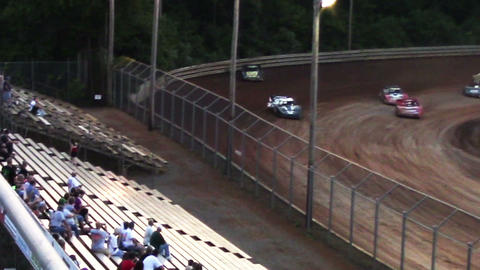 2006 Race Cars Late Models Spin Out at Dirt Track Stock Video Footage