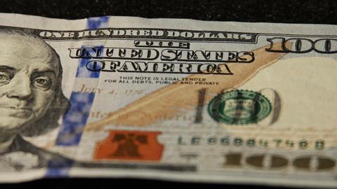 2014 United States one hundred dollar bill, 4K Footage