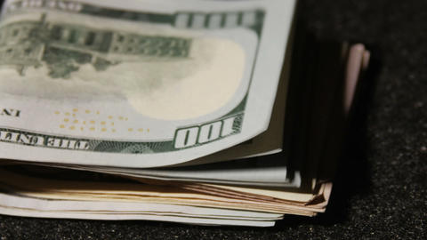 2016 Stack of One hundred dollar bill United State Stock Video Footage