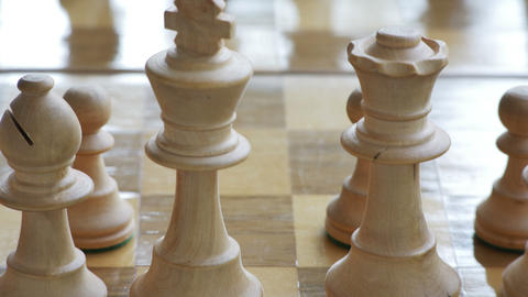 2031 Chess Game Outside, 4K Stock Video Footage