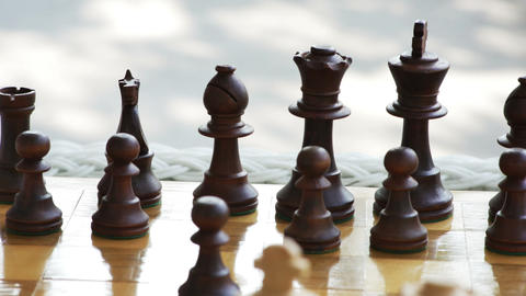 2033 Chess Game Move Outside, HD Footage