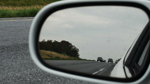 2037 Cars Driving on Highway Rear View Mirror, HD Stock Video Footage