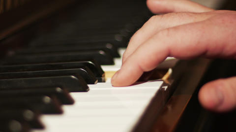 2039 Piano Playing Close Up of Hands, HD Footage