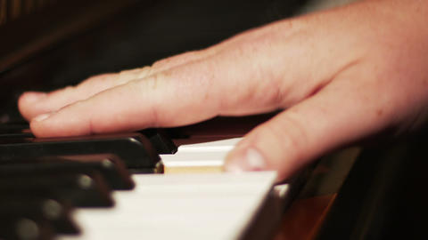 2039 Piano Playing Close Up of Hands, HD Stock Video Footage