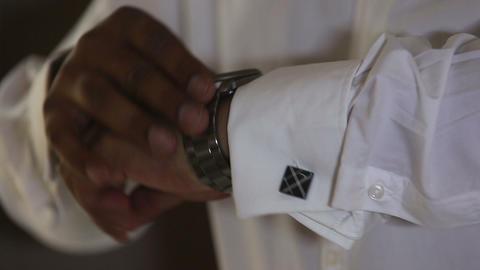 man holding cuffs Footage