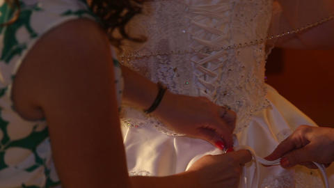 back of a wedding dress Footage