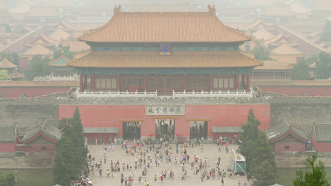 Panorama view of Forbidden city at daytime 4k Live Action