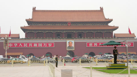 Tiananmen Square at daytime HD Footage
