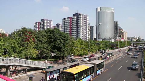 Zhongguancun street at daytime HD Stock Video Footage