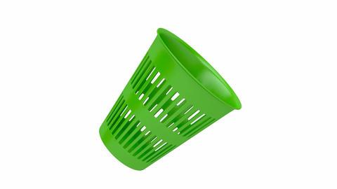 Green waste basket Animation