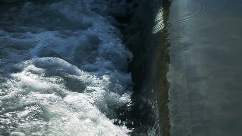 Water Flows stock footage