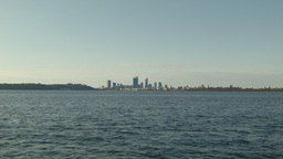 View Across the Swan River With the Perth Skyline Footage