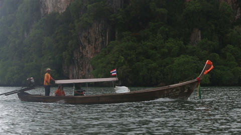 small boat floating in the ocean Footage