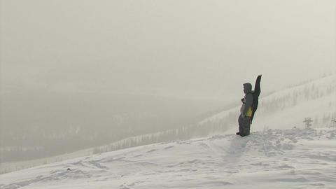 Bad weather , snowboarder Footage