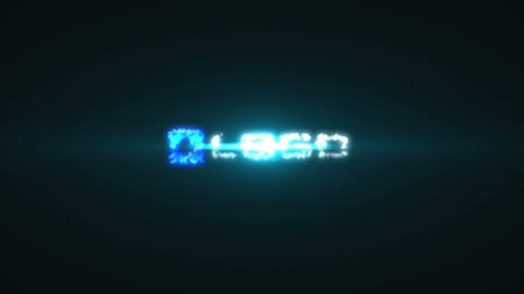 Blue Glow Flares Sci Fi Explosion Shatter Logo After Effects Template