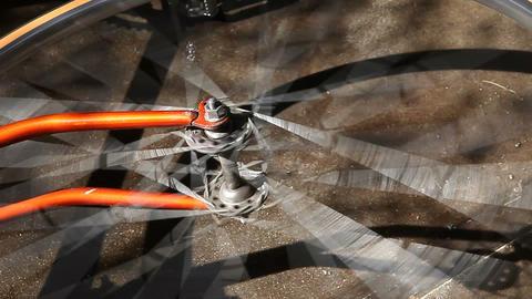 spinning bike wheel Footage