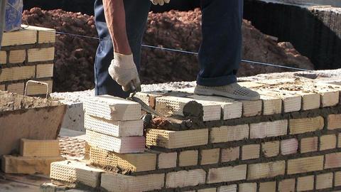 Work bricklayer Footage