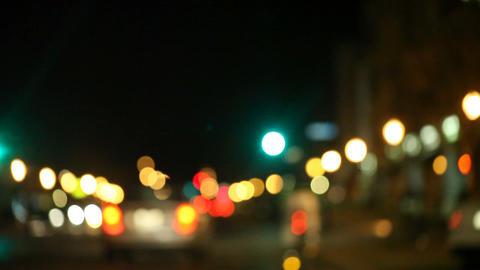 cyclist in city traffic Footage