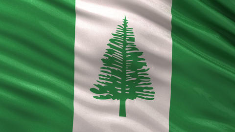 Flag of Norfolk Island seamless loop Animation