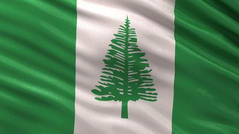 Flag of Norfolk Island seamless loop Animation