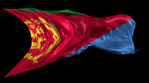 Flag of Eritrea Stock Video Footage