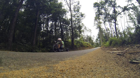 Drift trike rider during the 2nd Newton's Force Fe Stock Video Footage