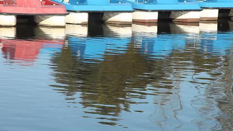Paddleboats stock footage