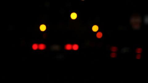 cars at night defocused Stock Video Footage