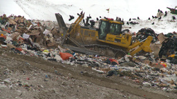 HD2008-12-8-2 landfill caterpiller Stock Video Footage