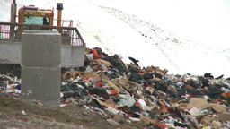 HD2008-12-8-6 landfill caterpiller Stock Video Footage