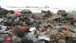 HD2008-12-8-8 landfill caterpiller g truck Stock Video Footage