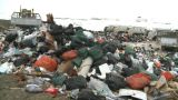 HD2008-12-8-12 Landfill Caterpiller G Truck stock footage